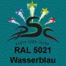 Lederfarbspray Wasserblau 150 ml RAL 5021