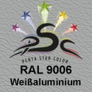 Lederfarbspray Weißaluminium 150 ml RAL 9006