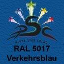 Lederfarbspray Verkehrsblau 400 ml RAL 5017