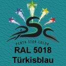 Lederfarbspray Türkisblau 400 ml RAL 5018
