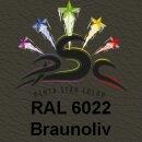 Lederfarbspray Braunoliv 400 ml RAL 6022