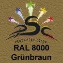 Lederfarbspray Grünbraun  400 ml RAL 8000